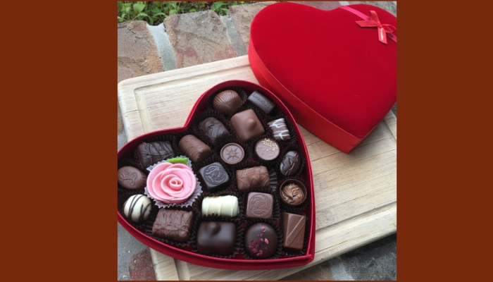 Assorted Red Heart Chocolate Box