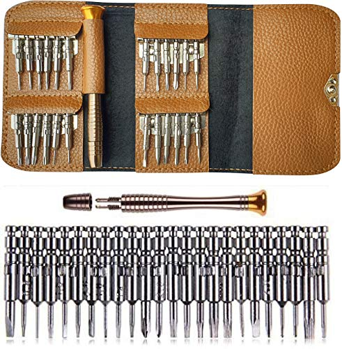 AmiciTools 25 in 1 Laptop Screwdriver Set Multi Pocket Repair Tool Kit for Electronic Devices