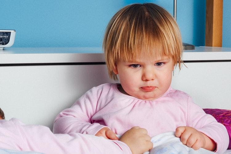 A sad toddler.